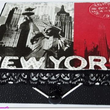 Caixa em MDF tema New York City