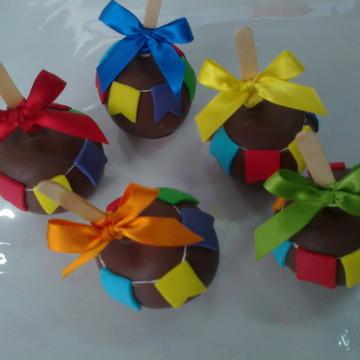 Maçã do Amor de Chocolate - Festa Junina
