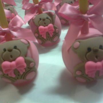 Maçã Do Amor - Ursinha Rosa e Marrom