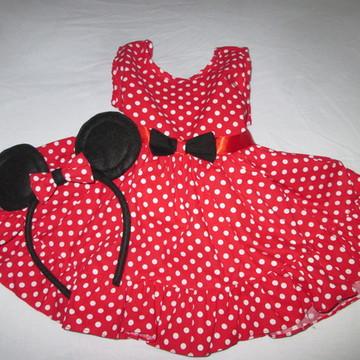 Vestido Minnie vermelho