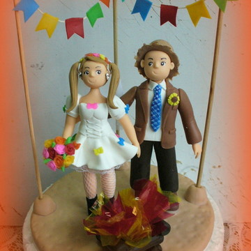 Topo de bolo - Casamento caipira