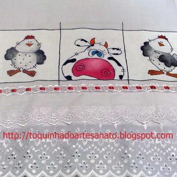 Pano de prato com diversos desenhos