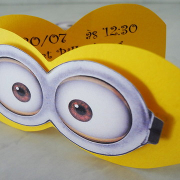 Convite Óculos Minions