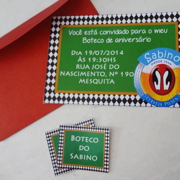 Convite Boteco( pode ser outros temas)