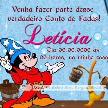 Convite Personalizado Mickey Fantasia