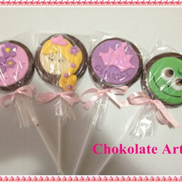 Pirulito de Chocolate Rapunzel-Enrolados