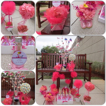 Kit festa pompom pink & rosa I