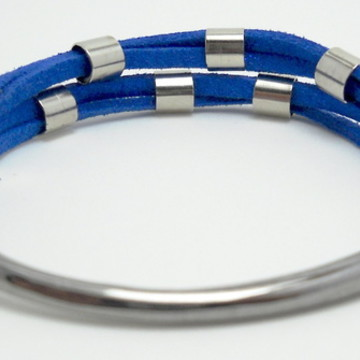 Pulseira Gancho Azul Royal