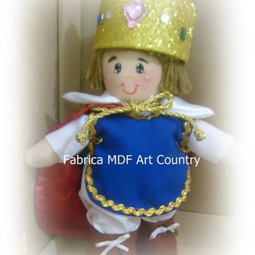 Boneco rei Arthur de tecido