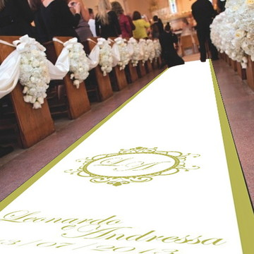 Tapete para entrada dos noivos - Brasão