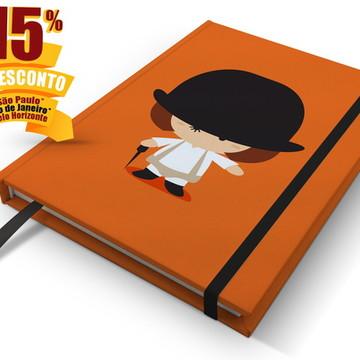 Caderno Laranja Mecânica A5 Personalizado