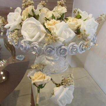 Lapela para noivo ou padrinhos & cartao