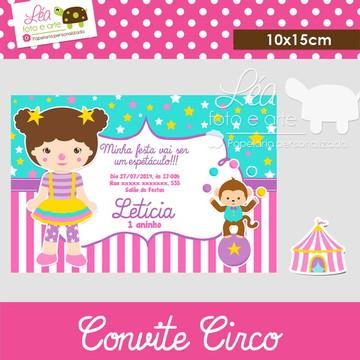 Convite Circo - Menina
