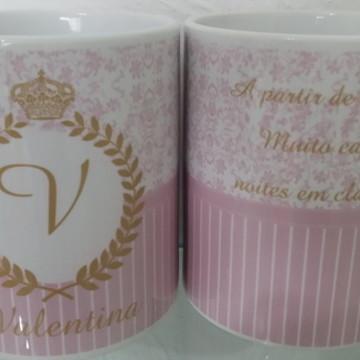 Caneca Personalizada Provençal -Lembrancinha Provençal