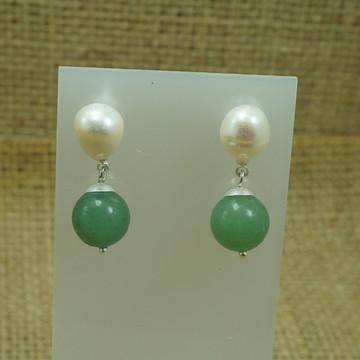 Brinco de Pedra Quartzo Verde