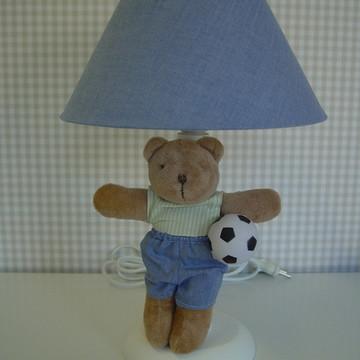 (AJO 0108) Abajur urso futebol
