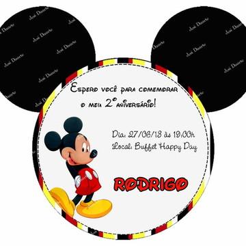 Convite orelha Mickey