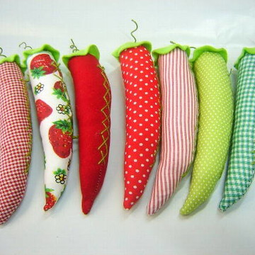 Pimentas em patchwork