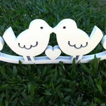 Topo de Bolo/Decoração Love Birds
