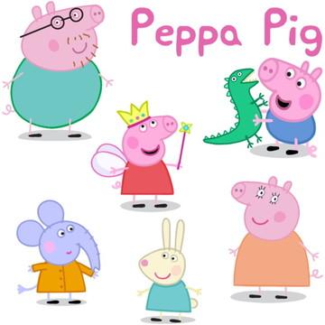 Kit Adesivos Peppa Pig
