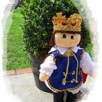 Boneco rei Arthur de pano
