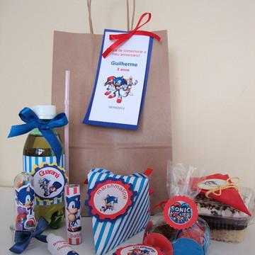 Kit festa personalizada Sonic