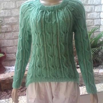 Blusa mullet verde bebe