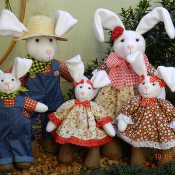 familia coelhos decoração