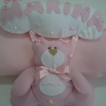 Porta Maternidade Ursa Rosa