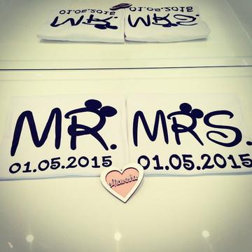 Camisetas Mr e Mrs Personalizadas