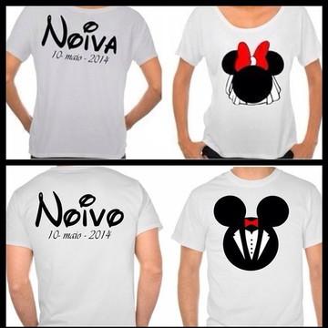 Camisetas Noivo e Noiva Personalizadas