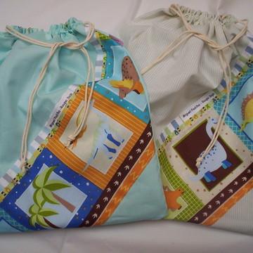 Kit saco roupa suja/molhada( 2 sacos)