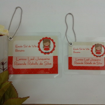 TAG BAG Identificação Mochila e Lancheir