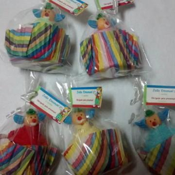 Cupcake de toalha tema circo
