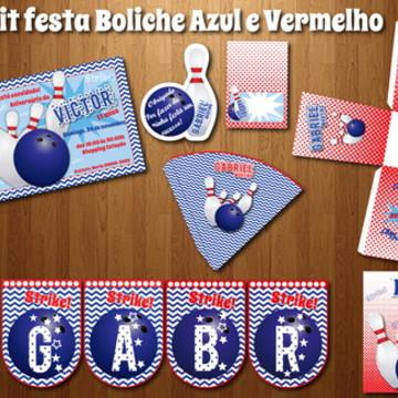 Festa BOLICHE Kit digital LUXO