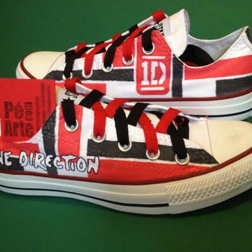 All Star Pintado A Mão One Direction