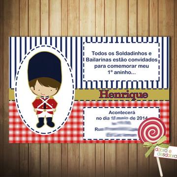 Convite - Soldadinho de Chumbo