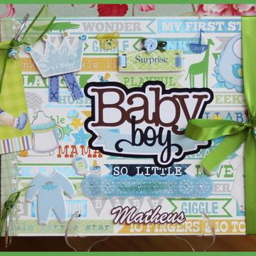 Álbum Fotos E Recados Bebê Menino (4)