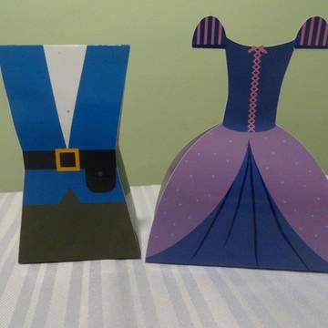 Caixa Vestido e Uniforme - Rapunzel/José/Gothel