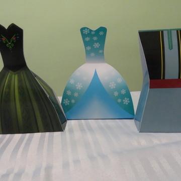 Caixa Vestido e Uniforme - Frozen