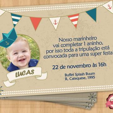 Convite NAVY / MARINHEIRO 2
