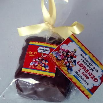 Pão de Mel Personalizado turma do Mickey