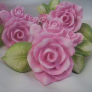 Puxadores resina rosas ou buquê de rosas