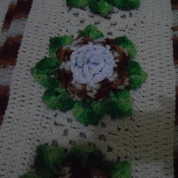Tapete em crochê barroco