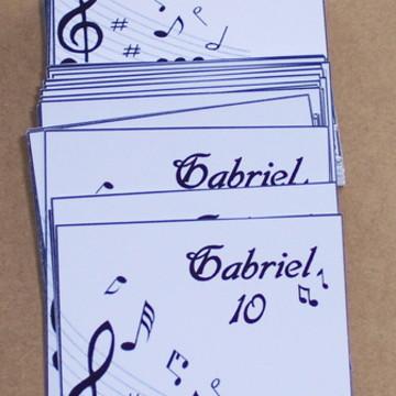 Adesivo Tubete Notas Musicais