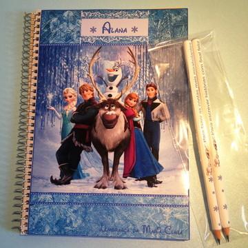 Kit caderno e lápis