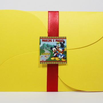 Convite Infantil A casa do Mickey