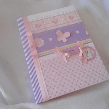 Álbum De Fotos Bebê Rosa