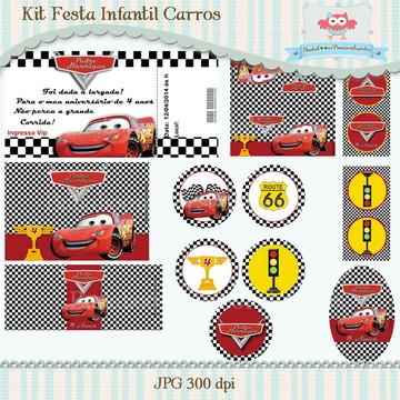 Kit Festa Infantil Carros (arte)