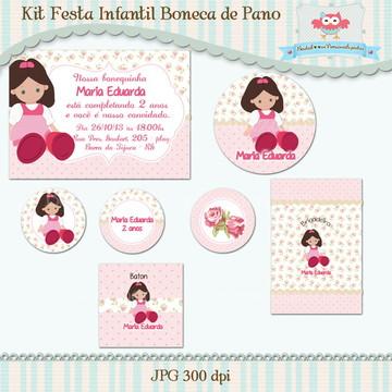 Kit Festa Infantil Boneca de Pano(arte)
